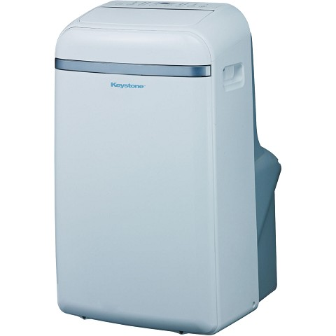"Keystone 14,000 BTU 115V Portable Air Conditioner with ""Follow Me"" LCD Remote Control - KSTAP14B"