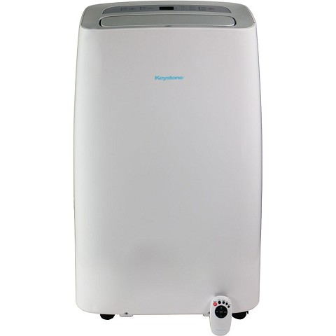 "Keystone 115V Portable Air Conditioner with ""Follow Me"" Remote Control for Rooms up to 350-Sq. Ft. - KSTAP14NA"