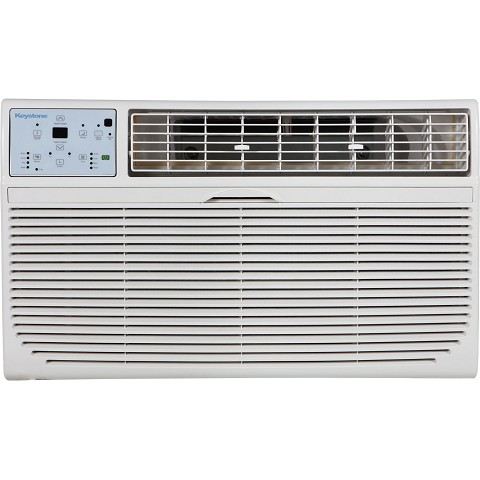 "Keystone 8,000 BTU 115V Through-the-Wall Air Conditioner with ""Follow Me"" LCD Remote Control - KSTAT08-1C"