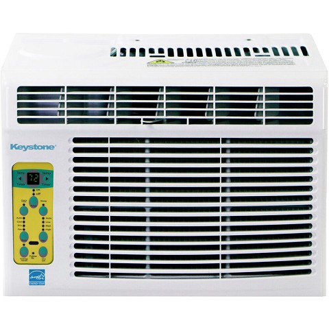 Keystone Energy Star 10,000 BTU Window-Mounted Air Conditioner with Follow Me LCD Remote Control, KSTAW10CE
