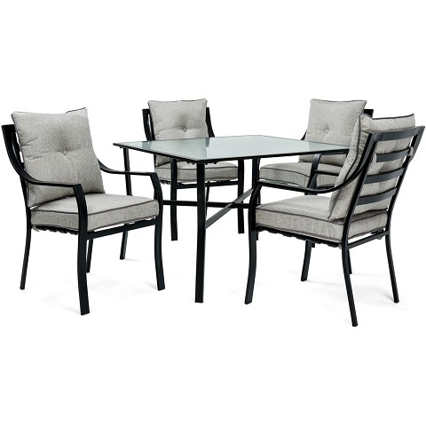 Lavallette 5PC Dining Set in Gray - LAVDN5PC-SLV