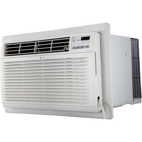 LG 11,200 BTU 230V Through-the-Wall Air Conditioner with 11,200 BTU Supplemental Heat Function - LT1237HNR
