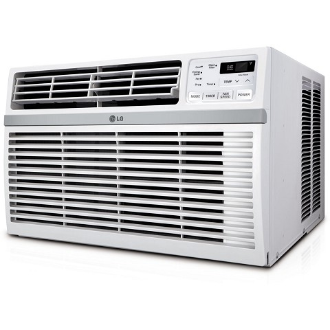 LG 12,000 BTU 115V Window-Mounted Air Conditioner with Remote Control, LW1216ER