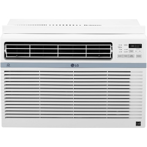 LG Energy Star 12,000 BTU 115V Window-Mounted Air Conditioner with Wi-Fi Control - LW1217ERSM