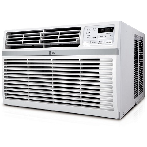 LG 8,000 BTU 115V Window-Mounted Air Conditioner with Remote Control, LW8016ER