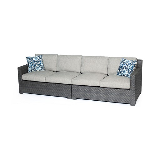 Metropolitan 2PC Loveseat Set  with Grey Weave in Silver Lining - METRO2PC-G-SLV