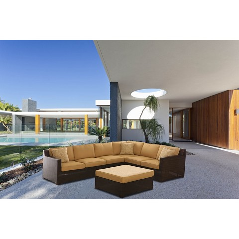 Metropolitan 5PC Sectional Set in Sahara Sand - METRO5PC