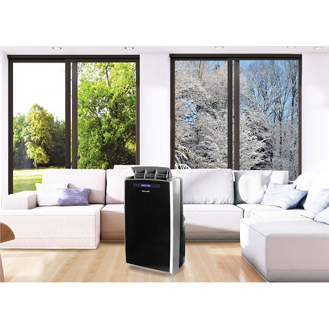 Portable Air Conditioner with Dehumidifier, Fan & Heater, Cools Rooms Up To 700 Sq. Ft. with Remote Control (Black/Silver) - MM14CHCS