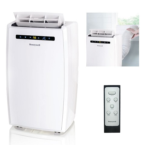 Portable Air Conditioner with Dehumidifier & Fan for Rooms Up To 550 Sq. Ft. with Remote Control in White - MN12CESWW