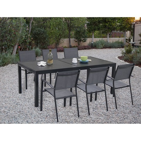Naples 7PC Dining Set - NAPLESDN7PC-GRY