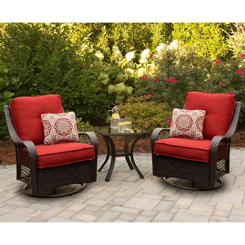 Orleans 3PC Chat Set In Autumn Berry - ORLEANS3PCSW-B-BRY