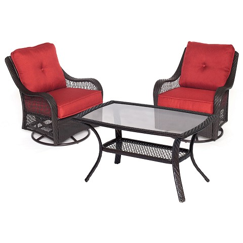 Orleans 3PC Patio Chat Set in Autumn Berry - ORLEANS3PCSWCT-B-BRY