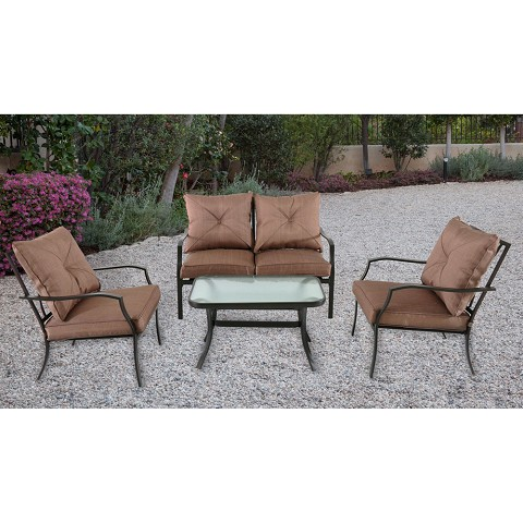 Palm Bay 4PC Patio Set - PALMBAY4PC-TAN