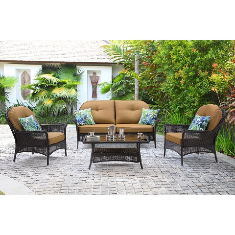 San Marino 4PC Seating Set in Country Cork - SMAR-4PC-TAN