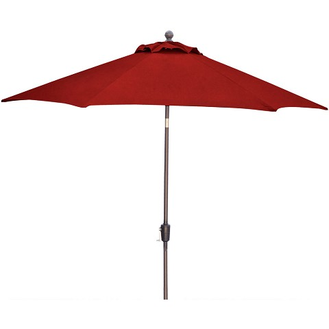 Hanover Traditions 9 Ft. Table Umbrella in Red - TRADUMBRED