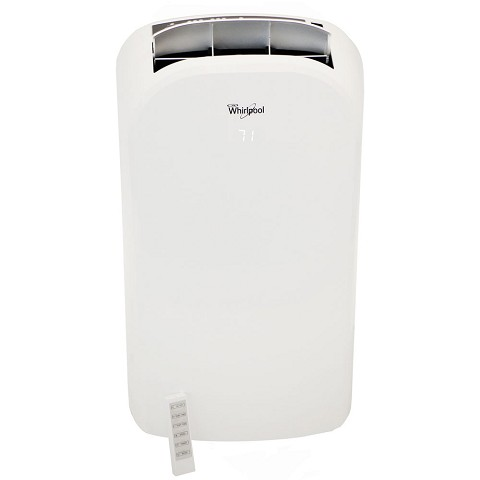 Whirlpool 14,000 BTU Dual-Exhaust Portable Air Conditioner with Remote Control in White - WHAP142AW