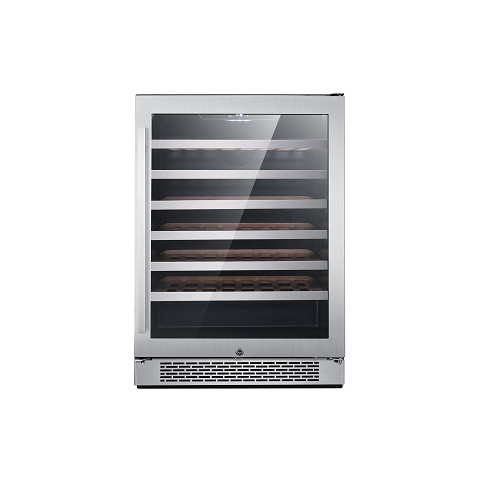 "Cambridge Luxury Series 24"" Single Zone Wine Cooler with 54-Bottle Capacity and Door Lock, CCC60101-6SSL"