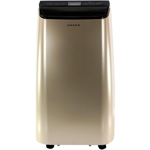 Amana Portable Air Conditioner with Remote Control in Gold/Black for Rooms up to 250-Sq. Ft., AMAP101AD-2