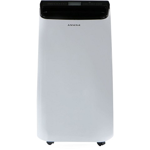 Amana Portable Air Conditioner with Remote Control in White/Black for rooms up to 350-Sq. Ft., AMAP121AB-2