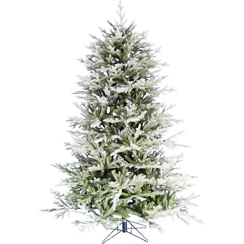 Fraser Hill Farm 6.5-Ft Highland Frosted Green Christmas Tree with Metal Stand, FFHL065-0FR