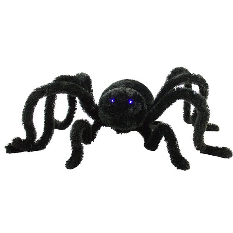 Haunted Hill Farm 36 In. Animatronic Crawler Spider, Indoor/Outdoor Halloween Decoration, Flashing Blue Eyes, Battery-Operated, HHSPD-1FLSA