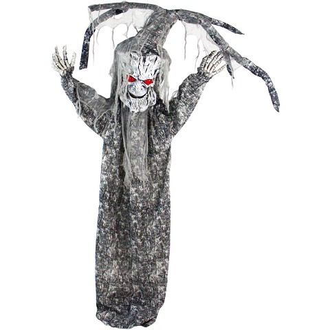 Haunted Hill Farm Life-Size Animatronic Tree Man, Indoor/Outdoor Halloween Decoration, Red Eyes, Poseable, Battery-Operated, HHTREE-2FLSA