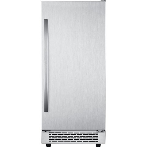 Hanover Grandeur Series 15-In. Stainless Steel Undercounter Ice Maker with Reversible Door and Touch Controls, HIM60701-3SS