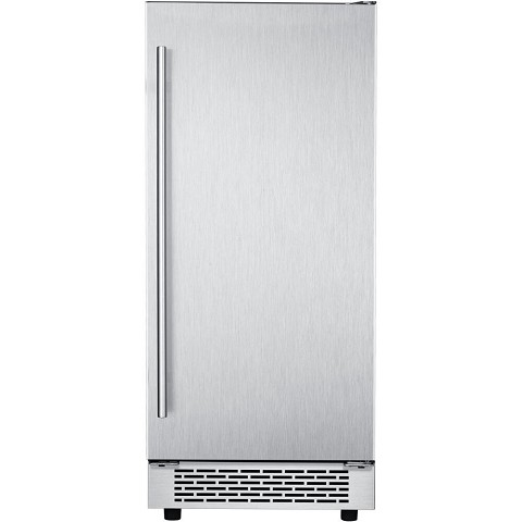 Hanover Studio Series 15-In. Stainless Steel Undercounter Ice Maker with Reversible Door and Touch Controls, HIM60701-4SS