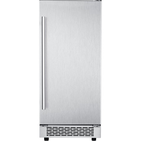 Hanover The Vault 15-In. Stainless Steel Undercounter Ice Maker with Reversible Door and Touch Controls, HIM60701-5SS