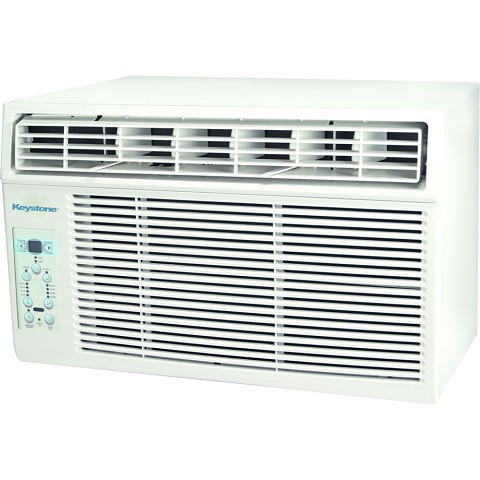 "Keystone 10,000 BTU Window-Mounted Air Conditioner with ""Follow Me"" LCD Remote Control, KSTAW10BE"