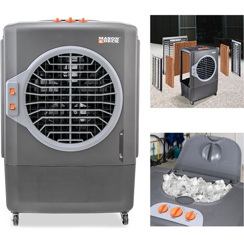 Mason & Deck 2100 CFM Indoor/Outdoor Portable Evaporative Air Cooler for Amplified Cooling, ME1MOGO