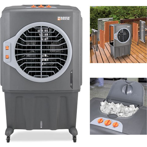 Mason & Deck 2800 CFM Indoor/Outdoor Portable Evaporative Air Cooler for Amplified Cooling, ME2MOGO