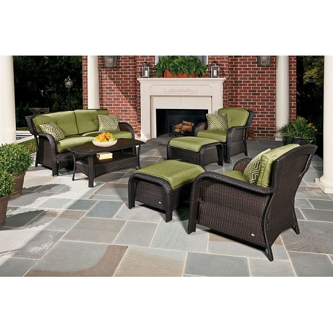 Strathmere 6PC Seating Set in Cilantro Green - STRATHMERE6PC
