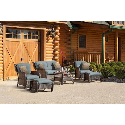 Strathmere 6PC Seating Set in Ocean Blue - STRATHMERE6PCBLU