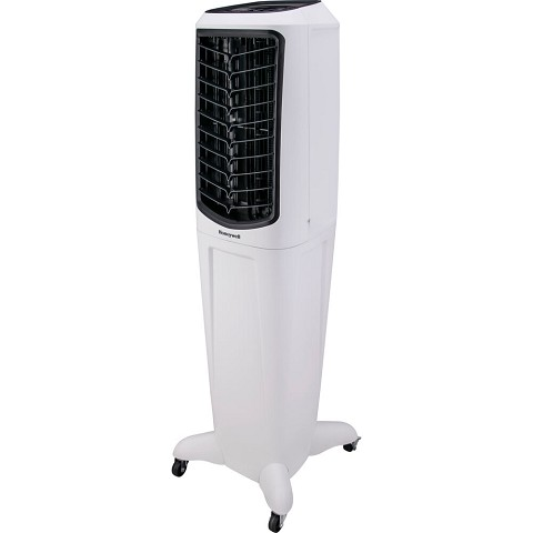 Honeywell 588-647 CFM Indoor Evaporative Air Cooler (Swamp Cooler) with Remote Control in White, TC50PEU