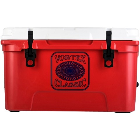 Vortex Classic Series 45-Quart Rotational-Molded Cooler in Red, VC45RED