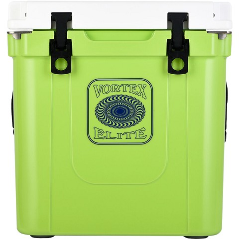 Vortex Elite Series 33-Quart Rotational-Molded Customizable Cooler System in Lime, VE33LME