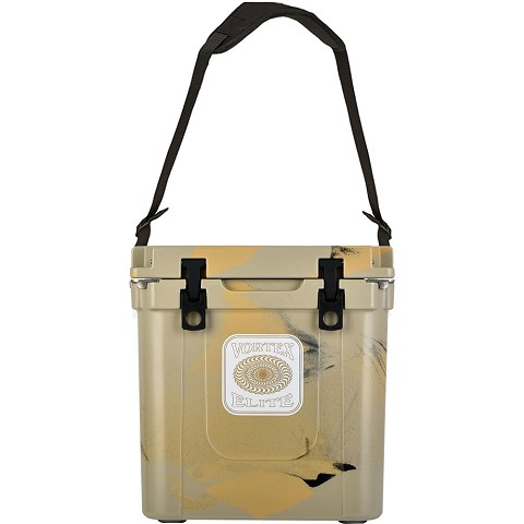 Vortex Elite Series 33-Quart Rotational-Molded Customizable Cooler System with Shoulder Strap, Tan, VE33TAN-PS-KIT