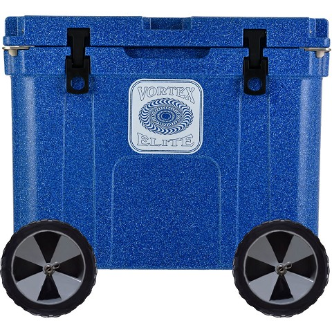 Vortex Elite Series 55-Quart Rotational-Molded Customizable Cooler System with 2 Sets of Beach Wheels, Azurite, VE55AZE-2BW-KIT