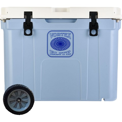Vortex Elite Series 55-Quart Rotational-Molded Customizable Cooler System with 1 Set of Standard Wheels, Cerulean, VE55CRN-SW-KIT