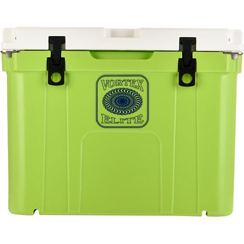 Vortex Elite Series 55-Quart Wheel-Kit Ready Rotational-Molded Customizable Cooler System in Lime, VE55LME