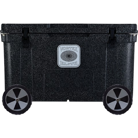 Vortex Elite Series 78-Quart Rotational-Molded Customizable Cooler System with 2 Sets of Beach Wheels, Basalt, VE78BAS-2BW-KIT