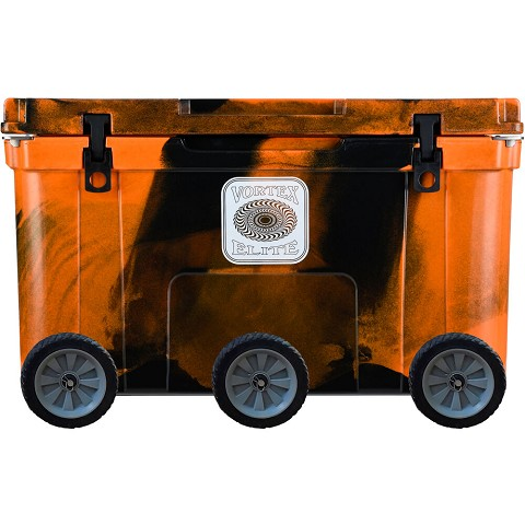 Vortex Elite Series 78-Quart Rotational-Molded Customizable Cooler System with 3 Sets of Standard Wheels, Blaze Orange Camo, VE78BOC-3SW-KIT