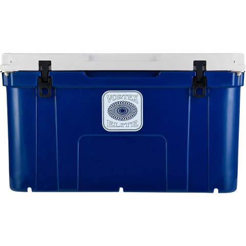 Vortex Elite Series 78-Quart Wheel-Kit Ready Rotational-Molded Customizable Cooler System in Navy, VE78NVY