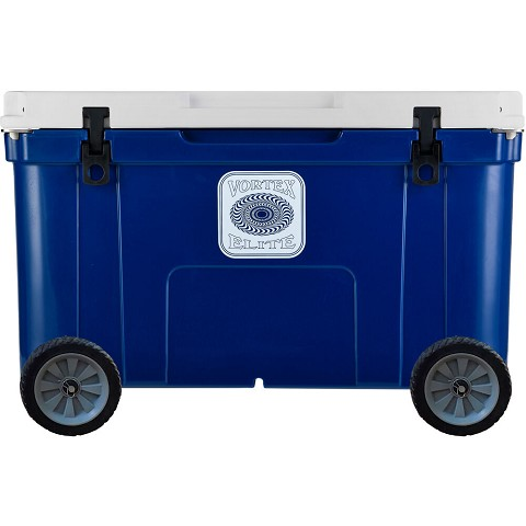 Vortex Elite Series 78-Quart Rotational-Molded Customizable Cooler System with 2 Sets of Standard Wheels, Navy, VE78NVY-2SW-KIT