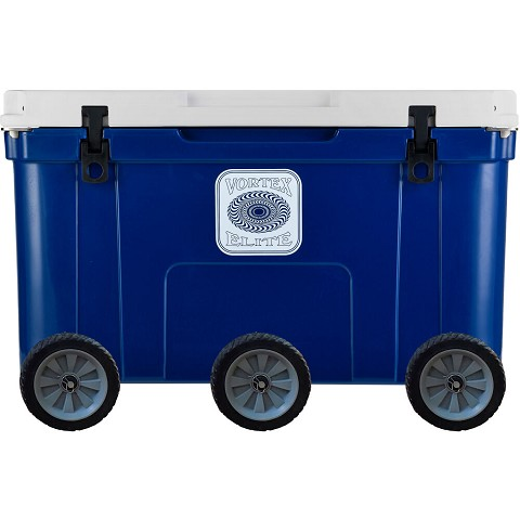 Vortex Elite Series 78-Quart Rotational-Molded Customizable Cooler System with 3 Sets of Standard Wheels, Navy, VE78NVY-3SW-KIT
