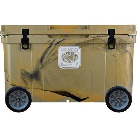 Vortex Elite Series 78-Quart Rotational-Molded Customizable Cooler System with 2 Sets of Standard Wheels, Tan, VE78TAN-2SW-KIT